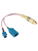 15cm RCA Female to  FAKRA Male + FAKRA Z Type Female RG316 Cable with Spring
